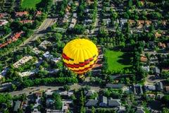 Hot air balloon. Taken from a hot air balloon basket. Napa, California stock photos