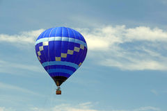 Hot air balloon tethered to ground Royalty Free Stock Image