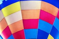 Hot air balloon texture close up Stock Images