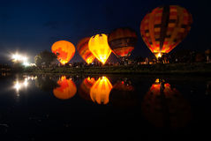 Hot air balloon in Thailand International Balloon Festival 2009. Royalty Free Stock Images
