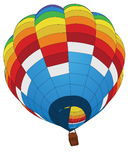 Hot Air Balloon for Transportation Concept. Royalty Free Stock Images