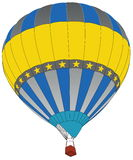 Hot Air Balloon for Transportation Concept. Stock Photo