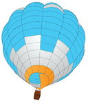 Hot Air Balloon for Transportation Concept. Royalty Free Stock Photos