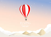 Hot air balloon travel background Stock Photo