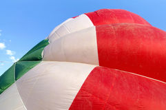 Hot air balloon tricolor details Royalty Free Stock Images