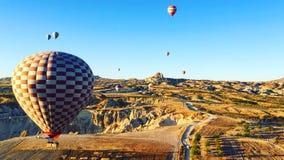 Hot air balloon trip. Discover cappadocia. Royalty Free Stock Image