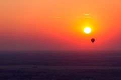 Hot air balloon trip Stock Images