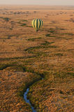 Hot air balloon trip over Serengeti Stock Photos