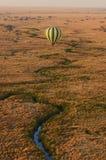 Hot air balloon trip over Serengeti Stock Photos
