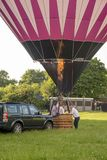 Hot air balloon - Buckinghamshire UK Stock Image