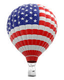 Hot Air Balloon with USA Flag  Stock Images