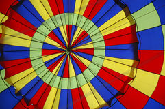 Hot Air Balloon V. Color photo of inside of a hot air balloon stock images