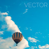 Hot air balloon vector background. Royalty Free Stock Photos
