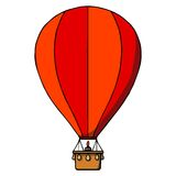 Hot air balloon. Vector illustration Stock Image
