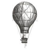 Hot Air Balloon vector logo design template. retro Royalty Free Stock Photography