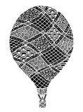 Hot air balloon vector. Zentangle and doodle hot air balloon. Balloon coloring book Royalty Free Stock Photography