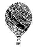 Hot air balloon vector. Zentangle and doodle hot air balloon. Balloon coloring book Stock Image
