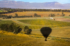 Hot air balloon view Stock Images