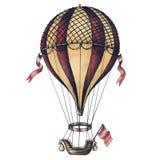 Hot air balloon vintage style illustration Stock Photo