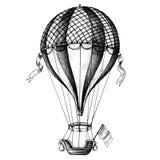 Hot air balloon vintage style illustration Stock Image