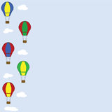 Hot air balloon wallpaper Stock Images