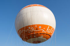 Hot air balloon, Warsaw, Poland. Hot air balloon on blue sky background Royalty Free Stock Photography