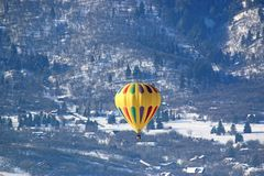 Hot air balloon in the Wasatch Front, Utah stock image