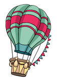 Hot air balloon. On a white background Royalty Free Stock Images