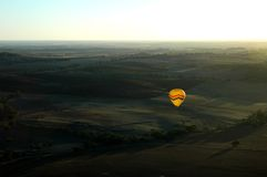 Hot Air Ballooning. Sports : Ballooning over valley royalty free stock image