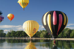 Hot Air Ballooning colors Royalty Free Stock Photos