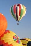 Hot Air Ballooning colors rural. Rural Hot Air Ballooning events sky royalty free stock photos