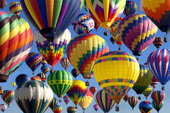 Hot Air Ballooning. Composite of hot air balloons at the New Jersey Ballooning Festival in Whitehouse Station, New Jersey royalty free stock image