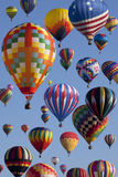 Hot Air Ballooning. Composite of hot air balloons at the New Jersey Ballooning Festival in Whitehouse Station, New Jersey royalty free stock photo