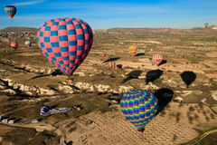 Hot air ballooning event Royalty Free Stock Images