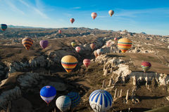 Hot air ballooning event Royalty Free Stock Photos