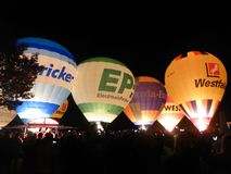 Hot Air Ballooning, Hot Air Balloon, Balloon, Night royalty free stock photography