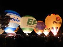 Hot Air Ballooning, Hot Air Balloon, Balloon, Night stock photography