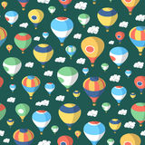 Hot Air Balloons – Seamless Pattern Stock Photography