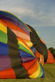 Hot air balloons. During summer evening inflation Royalty Free Stock Photography
