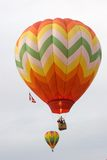 Hot Air Balloons. In Flight Stock Image