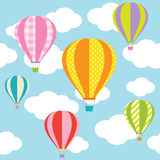 Hot Air Balloons. Illustration of colorful hot air balloons on the blue sky vector illustration
