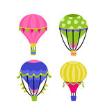 Hot Air Balloons. Cute and colorful hot air balloons Stock Images