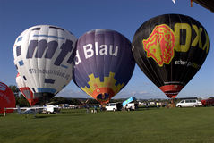 Hot Air Balloons. During an air show Stock Photography