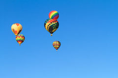 Hot air balloons. Over blue sky Royalty Free Stock Photography