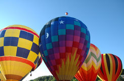 Hot Air Balloons. Colorful hot air balloons waiting to take off into the sky stock photography