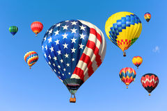 Hot air balloons Stock Photo