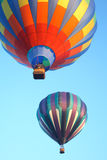 Hot air balloons. In the sky displaying their brilliant colors Stock Images