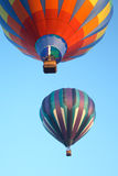 Hot air balloons. In the sky displaying their brilliant colors Stock Photo