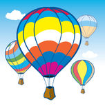 Hot air Balloons. Colorful Hot air Baloons in Flight Royalty Free Stock Images