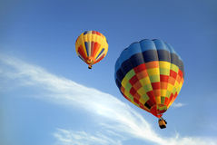 Hot air balloons 5. Colorful hot air balloons reaching the clouds royalty free stock photos